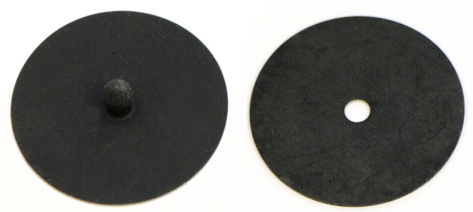 Black cartridge filter diaphragm engineered for reusable respirator face masks