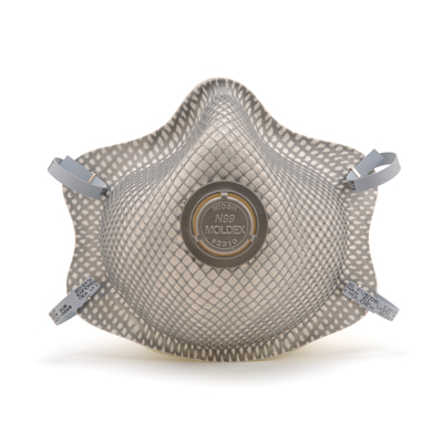 disposable respirator face mask with vent on its front