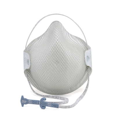 disposable white respirator face mask and adjustable strap