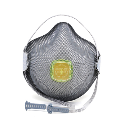 disposable yellow-vented face mask for respirator