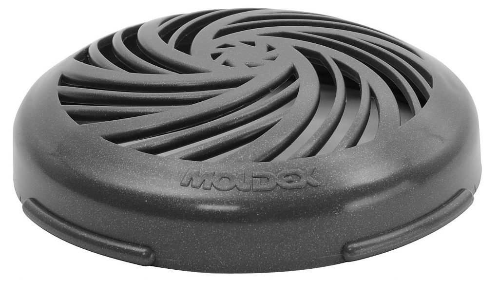 vents on black cartridge filter for use with reusable respirator face masks
