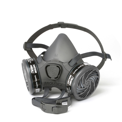 reusable black respirator face mask and cartridge filters