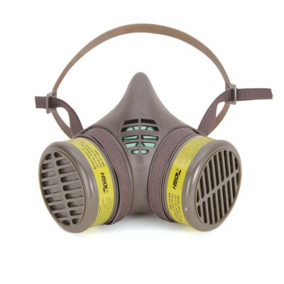 multi-gas reusable respirator face mask with replacement cartridge filters