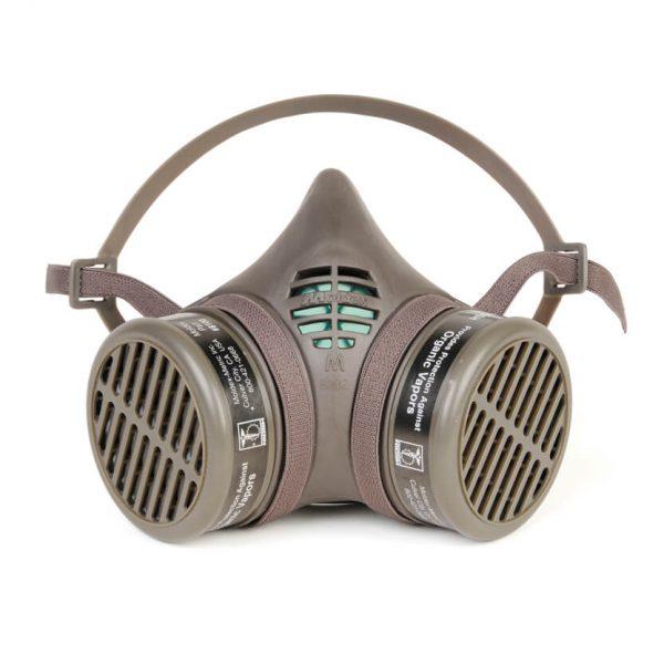 organic vapors reusable respirator face mask with additional cartridge filters