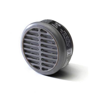 organic vapors cartridge filter that goes on reusable respirator face masks