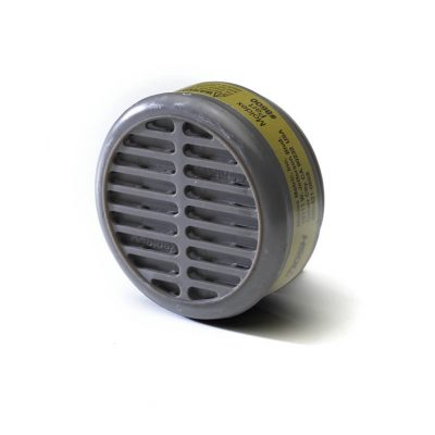 multi-gas cartridge filter for use in reusable respirator face masks