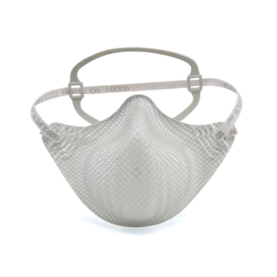 half-face disposable respirator face mask in white